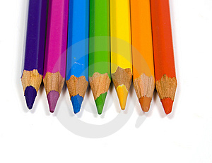 Pencils Of Seven Colors Royalty Free Stock Photo - Image: 8643295