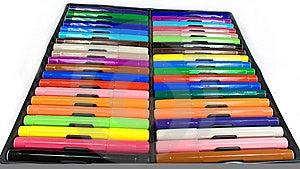 Set Of Felt-tip Pens Stock Images - Image: 8643354