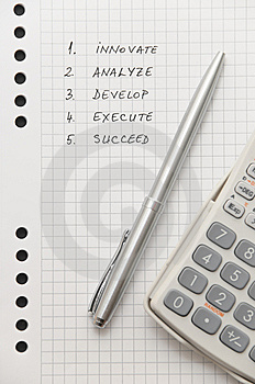 Elegant Silver Pen And Scientific Calculator Royalty Free Stock Images - Image: 8643789