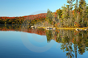 Beautiful Lake Reflections In The Fall Stock Photography - Image: 8643792