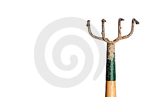 A Wood And Metal Garden Hoe Stock Images - Image: 8644064