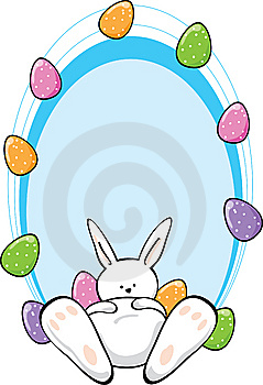 Easter Bunny With Text Area Stock Photo - Image: 8644140