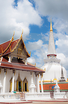 Gold Top Pagoda, South Of Thailand. Stock Image - Image: 8644261