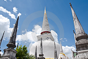 Gold Top Pagoda, South Of Thailand. Royalty Free Stock Photography - Image: 8644297