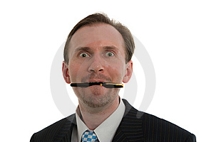 Joy Businessman Stock Photo - Image: 8644320
