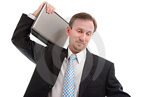 Businessman With Laptop Royalty Free Stock Photos - Image: 8644448