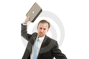 Businessman With Laptop Stock Photos - Image: 8644463