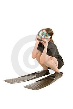 Underwater Girl Stock Photo - Image: 8644580