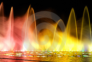 Night Fountain_2 Stock Images - Image: 8645174