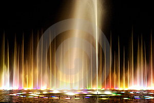 Night Fountain_3 Stock Photo - Image: 8645180