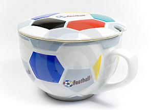 The Mug Of The Football Fan Royalty Free Stock Images - Image: 8645259