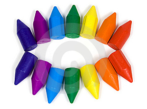 Wax Pencils Of Colors Of A Rainbow Stock Photos - Image: 8645293
