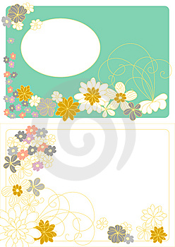 Vector Design With Flowers Royalty Free Stock Photography - Image: 8645807