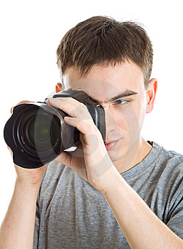 Young Photographer With Camera Royalty Free Stock Photos - Image: 8646128