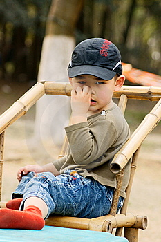 Boy Picking Nose Royalty Free Stock Photo - Image: 8646145