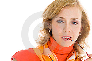 Young Blond Woman In Glasses Royalty Free Stock Photos - Image: 8646288