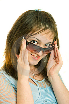 Girls With Eyeglasses Stock Image - Image: 8646301