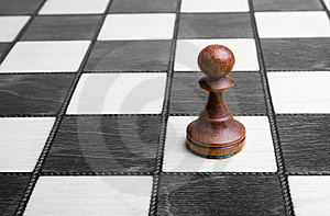 Pawn On Chessboard Royalty Free Stock Photos - Image: 8646988