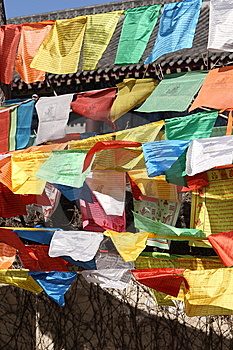 Prayer Flag Royalty Free Stock Photo - Image: 8647125