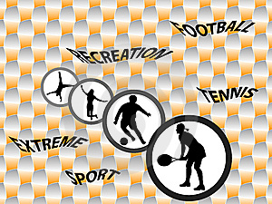 Sport Silhouettes Stock Image - Image: 8647231