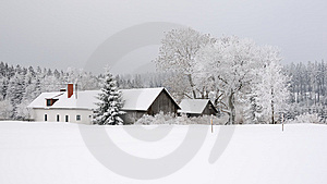 Winter Landscape With Farmhouse No.1 Stock Images - Image: 8647484