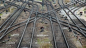 Railroad Tracks And Switches Stock Photo - Image: 8647760