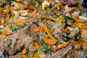 Meat With Vegetables Royalty Free Stock Image - Image: 8647986