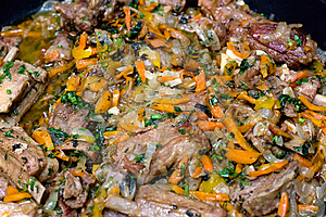 Meat With Vegetables Stock Photos - Image: 8648033