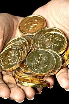 Gouden Muntstukken Royalty-vrije Stock Afbeelding - Beeld: 8648146