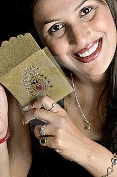 Menina Com Envelope Imagens de Stock Royalty Free - Imagem: 8648449