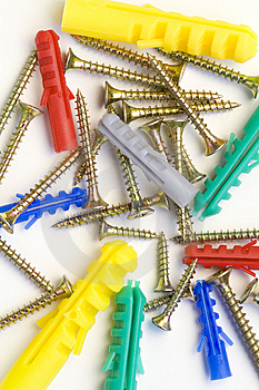 Screws And Dowels Royalty Free Stock Photos - Image: 8648518