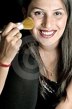 Girl Applying Makeup Stock Photography - Image: 8648532