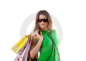 Woman And Bags Royalty Free Stock Photo - Image: 8648655