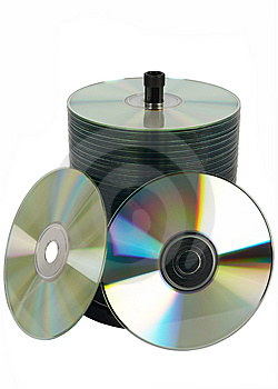 Shiny Digital Disks Stock Photo - Image: 8649040