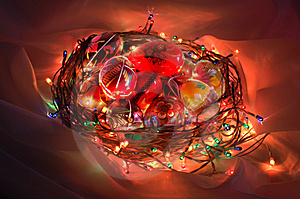 Illuminated Easter Basket Stock Photography - Image: 8649092
