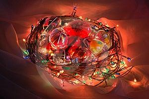 Illuminated Easter Basket Stock Photography - Image: 8649092