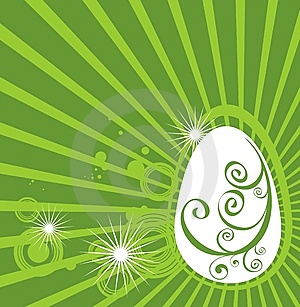 Easter Egg With Green Pattern Stock Photos - Image: 8649353