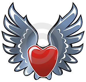 It's A Heart This Steel Wings Stock Photos - Image: 8649363