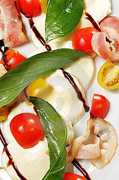 Salad - Tomato With Mozzarella Royalty Free Stock Photos - Image: 8649658