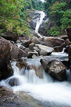 Waterfall In South Of Thailand. Stock Photo - Image: 8650000