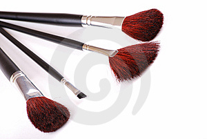 Cosmetic Brushes Stock Image - Image: 8650161
