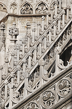 Roof Top Of Milan Cathedral Royalty Free Stock Photo - Image: 8650385
