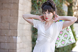 Attractive Young Woman Shopping Royalty Free Stock Photography - Image: 8650387