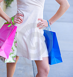 Attractive Young Woman Shopping Stock Photo - Image: 8650490