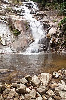 Waterval In Zuiden Van Thailand. Royalty-vrije Stock Afbeelding - Afbeelding: 8650496