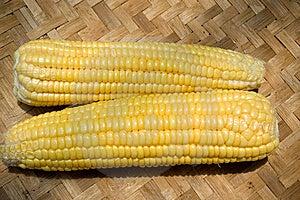 Corn On Bamboo Tray Stock Photography - Image: 8650542