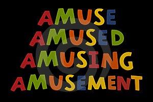 Word Combo Amuse Stock Photos - Image: 8650573