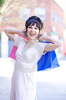 Attractive Young Woman Shopping Royalty Free Stock Photo - Image: 8650665