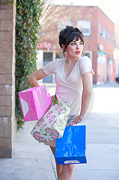 Attractive Young Woman Shopping Stock Photos - Image: 8650703