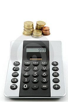 Calculator And Money Royalty Free Stock Photos - Image: 8650728